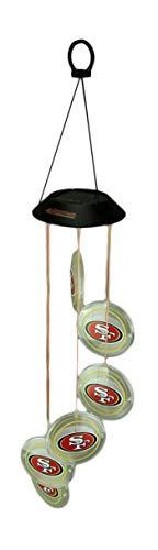 Team Sports America San Francisco 49ers Logo Solar Powered Mobile Wind Spinner