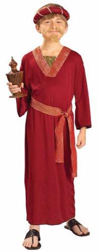 Kids Burgundy Wiseman Costumes - Kids Biblical Wise Man Bible XMAS