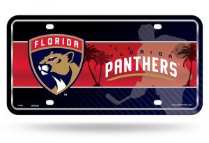 NHL Florida Panthers Metal License Plate Tag
