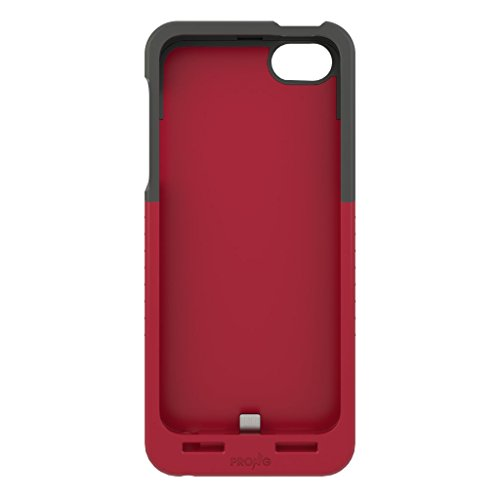 Prong 1050106 Pocket Plug Protective Case with Built-in A/C Charger for iPhone 5/5S – Black/Red