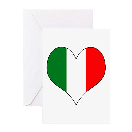 - CafePress Italy Heart Greeting Card, Note Card, Birthday Card, Blank Inside Glossy