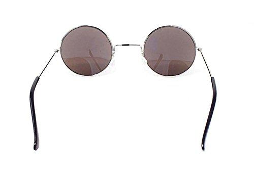 Hommes de Femmes Unisexe Soleil Lennon Con Lentes John Style Lunettes Elton Petit Silver Classique Vintage Rondes Qualité UV400 Retro Adultes Blue Revo SqOwxZE6