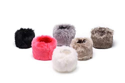 Women's Faux Fur Wrist Cuffs Furry Short Arm Warmers Winter Accessory 6 Pairs