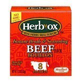 Herb-Ox Bouillon Packets Beef Instant Broth & Seasoning 1.13 oz Box by Herb-Ox ()