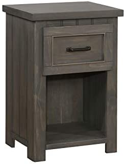 Napoleon 1-drawer Nightstand with USB Charging Ports Gunsmoke