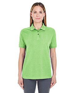 (UltraClub Women's Lightweight Whisper Blend Pique Polo Shirt, Small, Apple)