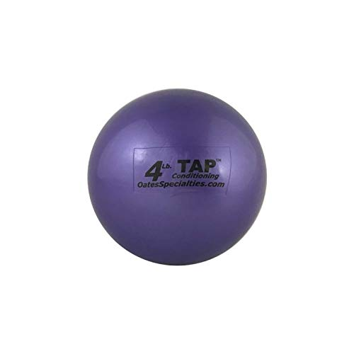 TAP Conditioning Mini-Medicine Ball   Used As a Replacement for Small Dumbbells   Used for Indoor Shot Put (Training Only)   Increase Grip Strength   Use for Slams, Tosses, and Throws (4lb, Purple)