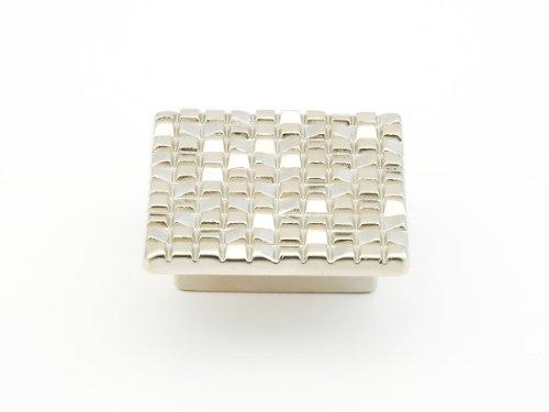 Schaub Mosaic Collection 1-7/8 in. (48mm) Square Knob, Satin Nickel - 234-15 - Mosaic 32 Mm Square