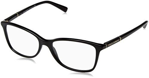 Dolce&Gabbana LOGO PLAQUE DG3219 Eyeglass Frames 501-55 - Black DG3219-501-55