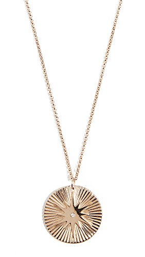 (Jennifer Zeuner Jewelry Women's Iris Arlene Necklace, Yellow Gold, One Size)