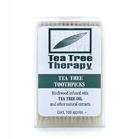 Tea Tree Therapy Toothpicks Tea Tree Therapy 100 ct ( Value Bulk Multi-pack) by Tea Tree Therapy
