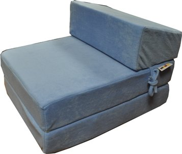 deluxe memory foam double z bed sky blue