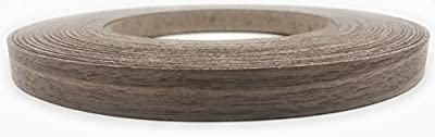 """Edge Supply Brand Walnut 7/8"""" x 250' Roll Preglued, Wood Veneer Edge banding, Iron on with Hot Melt Adhesive, Flexible Wood Tape Sanded to Perfection. Easy Application Wood Edging, Made in USA."""