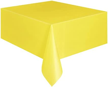 SUNFLOWER YELLOW Plastic Tablecover//Tablecloth {54 x 108}{137cm x 274cm}