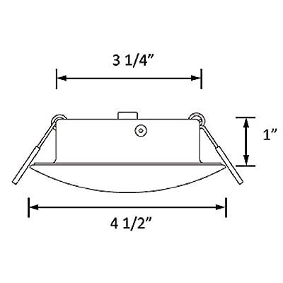 Facon 4.5Inch LED RV Puck Light Full Aluminum Recessed Mount Down Light 12V Interior Light for RV Motor-Homes Camper Caravan Trailer Boat: Automotive