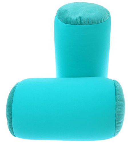 Price comparison product image Microbead Pillow Neck Roll Bolster Pillows - 85% Nylon / 15% Spandex With Ultra Plush Sides  Squishy Mooshi Beads Offer Comfort & Support, 7 x 12.5 inch Teal - 1 Piece