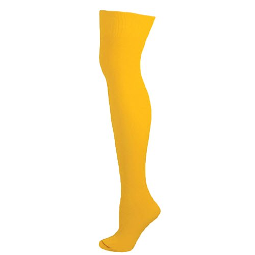 Ajs Knee High Nylon Socks - Gold Yellow, Medium