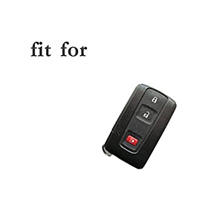 SEGADEN Silicone Cover Protector Case Skin Jacket fit for TOYOTA 4 Button Smart Remote Key Fob CV2419 Deep Blue