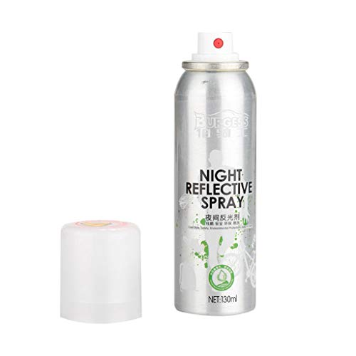 (Hongxin Night Reflective Spray Paint Reflecting Safety Mark Anti Accident Riding Bike Night Spray,Reflective Effect is Good, Washable,Reduce Accident,Suitable for Night Riding Bike)