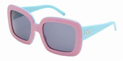 Dolce & Gabbana Women's 4047 Pink Frame/Grey Lens Plastic Sunglasses