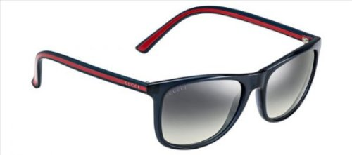 Gucci sunglasses GG 1055 /S 0VR Acetate Dark Blue - Red Grey - Acetate Sunglasses Gucci Square
