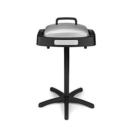 Electric Barbecue Grill with Stand. Bbq Grills Indoor and Outdoor Non Stick with Lid & Reversible Plate, Easily Portable, 180 Square Inch w/ plate and drip tray. Perfect for Grilling, Family Meals.