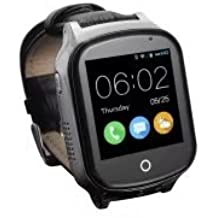 WIKI Intelligent Positioning Watch For Elderly and Kids,Black ,Supports 2G GSM and 3G WCDMA
