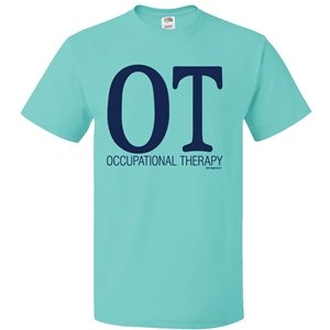 Image Sport Occupational Therapy Bold Scuba Blue T-Shirt Adult Large