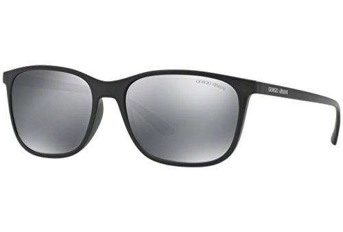 Giorgio Armani AR8084 - 50426G Black Rectangle Sunglasses 57mm