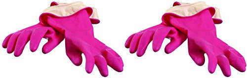dishwashing gloves pink - 2