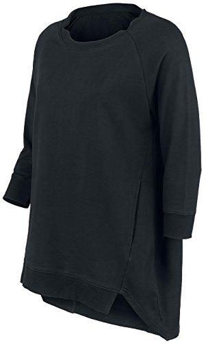 Forplay Camiseta de Mangas Tres Cuartos Sudadera mujer Negro Negro