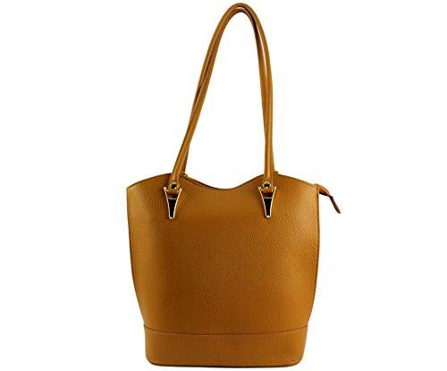 CHLOLY - Bolso mochila  de Otra Piel para mujer Camel clair