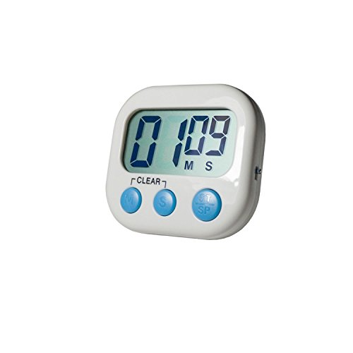 Digital Kitchen Cooking Timer,Minute Second Count Up Countdown,Magnetic Digital Loud Alarm Timer with Large LCD Display (White)