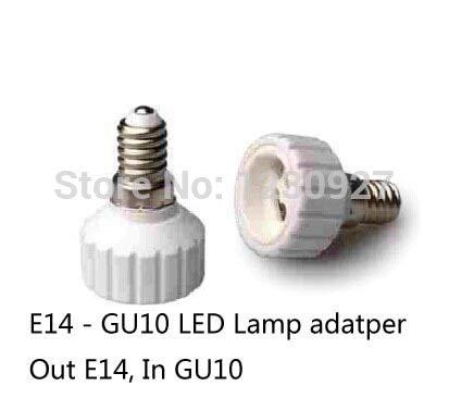Halica 10pcs /lot E14 To GU10 lamp Adapter Out E14 Inner GU10