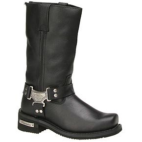 Classic Harness Leather Women's Motorcycle Boots