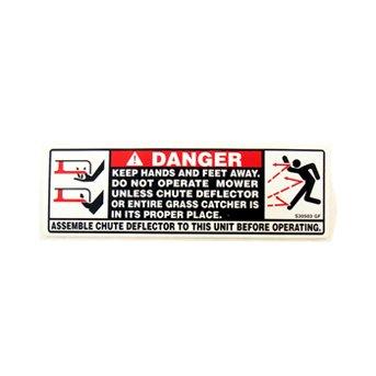 MTD 777S30503 Label-Danger Chute
