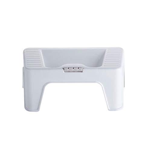Toilet Stool For Bathroom - Space Save Durable Non-Slip Lavatory Potty Stool For Elderly Kids Pregnant Women