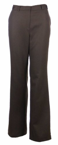 Sutton Studio Women's Cashmere Flare Dress Pants (14W, Coffee)