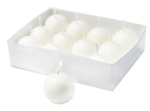 Round Candles Ball - Biedermann 12 Small Ball Candles, White