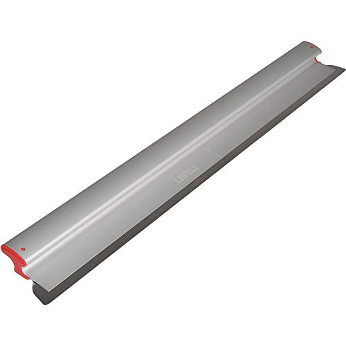 - Drywall Skimming Blade, 48-Inches - LEVEL5 | Pro-Grade | Extruded Aluminum & European Stainless Steel Construction | High-Impact End Caps | Sheetrock Gyprock Wall-Board Plasterboard | 4-948