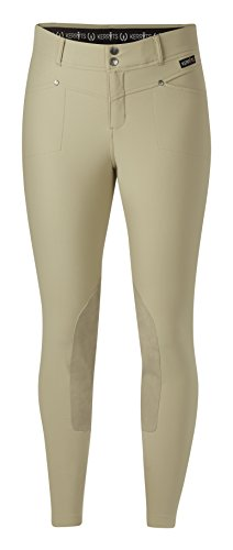 Kerrits Cross-Over Breech Kneepatch Tan Size: Small