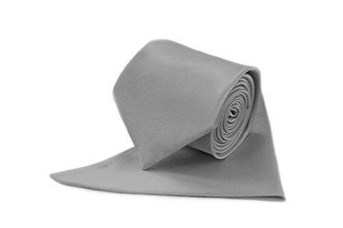 Men Fromal Smart Matching Formal Ties Men's Fine Shine For Pocket Silver Satin Plain Tie Neck Square Men's Colours Various Tie OqRzgz