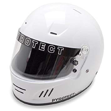 Pyrotect Pro Airflow Full Face Automotive Helmet-White-XXL