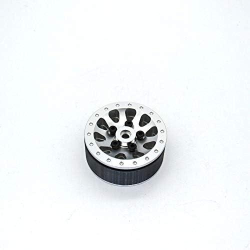 SNOWINSPRING Mozzo per Cerchione nel Metallo con Pneumatico nel Gomma per WPL C24 C34 C44 MN D90 D91 MN99S RC Accessori per Ricambi Auto Argento