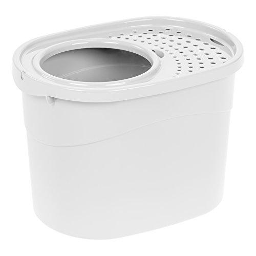 IRIS Top Entry Cat Litter Box, White (Litter Box Top Entry)