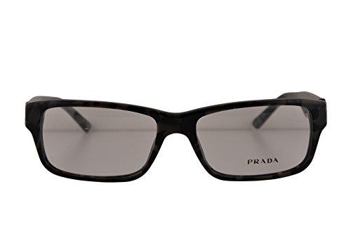 Prada PR16MV Eyeglasses 55-16-140 Spotted Brown Gray w/Demo Clear Lens UEL1O1 VPR16M VPR 16M PR 16MV (NO BOX & NO - Clear Lens Eyeglasses Prada