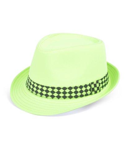 Neon Tropical Ladies Fedora Hats (Neon Fedora Hats)