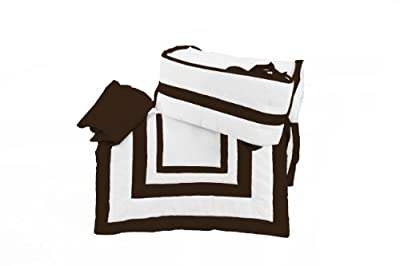 Baby Doll Modern Hotel Style Cradle Bedding Set Chocolate from Baby Doll