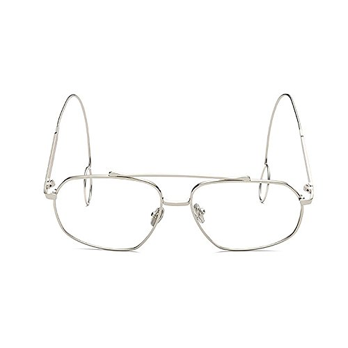 sol Gafas Personalidad mujeres Delicadas Pendientes sol lisas Protección Gafas de fino UV de sol de Elegante de metal para Elegantes sol Unisex Marco de Estilo gafas Hombre Retro Unisex Gafas Plata Elegante twx8qPIRO