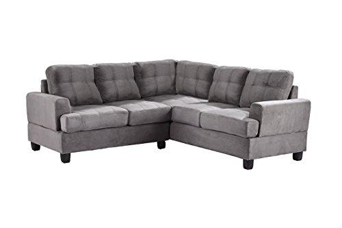 Glory Furniture G513B-SC Sectional Sofa, Grey, 2 boxes